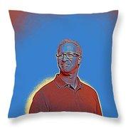 Portrait Of A Caucasian Male Throw Pillow
