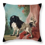 Portrait Of A Cavalier King Charles Spaniel Throw Pillow