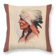 Portrait Of A Chief Throw Pillow