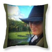 Portrait Of A Conservationist Throw Pillow