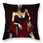 Portrait Of A Dancer Throw Pillow by Richard Young