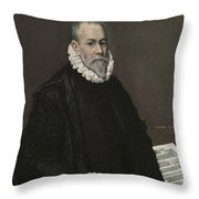 Portrait Of A Doctor Throw Pillow