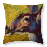 Portrait Of A Doe Throw Pillow