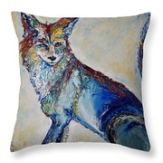 Portrait Of A Fox Throw Pillow