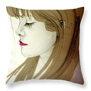 Portrait Of A Lovely Young Woman Throw Pillow