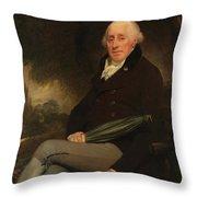 Portrait Of A Gentleman Beechey, William Throw Pillow