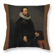 Portrait Of A Gentleman Throw Pillow