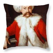 Portrait Of A Gentleman In Oriental Costume Throw Pillow