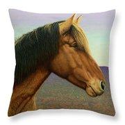 Portrait Of A Horse Throw Pillow