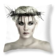 Portrait Of A Jesus Woman Throw Pillow