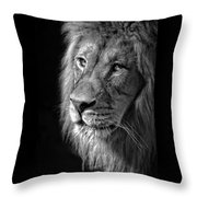Portrait Of A King Throw Pillow