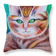 Portrait Of A Kitten Throw Pillow