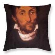 Portrait Of A Kleptomaniac 1822 Throw Pillow