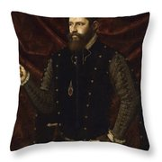 Portrait Of A Knight Of The Order Of Santiago Throw Pillow