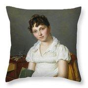 Portrait Of A Lady Half Length Throw Pillow