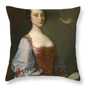 Portrait Of A Lady In Van Dyck Dress Throw Pillow