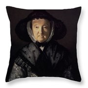 Portrait Of A Lady, Possibly Mrs. Pigott Of Chetwynd Throw Pillow