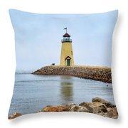 Portrait Of A Lighthouse Throw Pillow