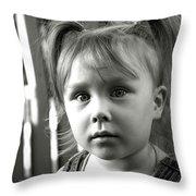 Portrait Of My Little Neighbor Throw Pillow