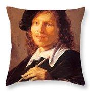 Portrait Of A Man 1640 Throw Pillow