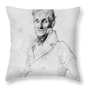 Portrait Of A Man Possible Edma Bochet Throw Pillow