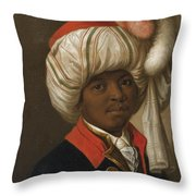 Portrait Of A Man Wearing A Turban Throw Pillow