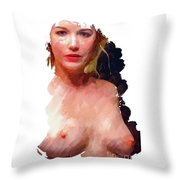 Portrait Of A Naked Lady Throw Pillow