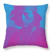 Portrait Of A Navajo Youth 4 Throw Pillow