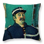 Portrait Of A One-eyed Man Throw Pillow