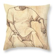 Portrait Of A Parasi Lady Throw Pillow