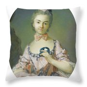 Portrait Of A Pensionnaire Of The King Throw Pillow