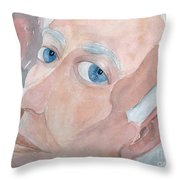 Portrait Of A Poet Throw Pillow by Fred Jinkins