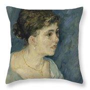 Portrait Of A Prostitute Antwerp December 1885 Vincent Van Gogh 1853  1890 Throw Pillow