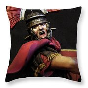 Portrait Of A Roman Legionary - 11 Throw Pillow