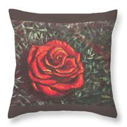 Portrait Of A Rose 4 Throw Pillow