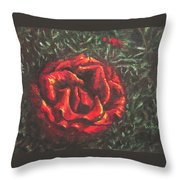 Portrait Of A Rose 6 Throw Pillow