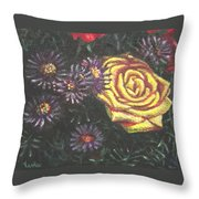 Portrait Of A Rose 7 Throw Pillow