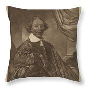 Portrait Of A Seated Man Throw Pillow