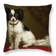 Portrait Of A Spaniel Throw Pillow