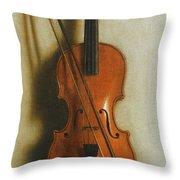 Portrait Of A Violin Throw Pillow