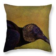 Portrait Of A Vulture Throw Pillow