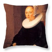 Portrait Of A Woman 1646 Throw Pillow