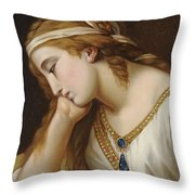 Portrait Of A Woman As An Allegorical Figure Throw Pillow
