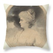 Portrait Of A Woman In Profile Throw Pillow