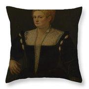 Portrait Of A Woman Perhaps Pellegrina Morosini Capello Throw Pillow