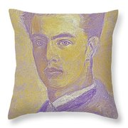 Portrait Of A Young Artist 2 Throw Pillow