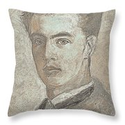 Portrait Of A Young Artist 3 Throw Pillow