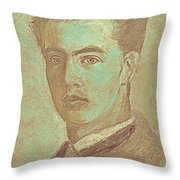 Portrait Of A Young Artist Throw Pillow