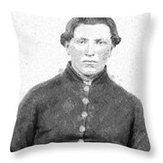 Portrait Of A Young  Civil War Soldier 4 Throw Pillow