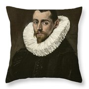 Portrait Of A Young Gentleman Throw Pillow